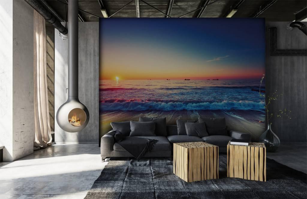 Stranden - Zonsondergang boven zee - Slaapkamer 6
