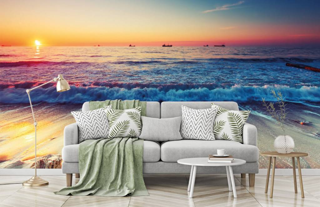 Stranden - Zonsondergang boven zee - Slaapkamer 7