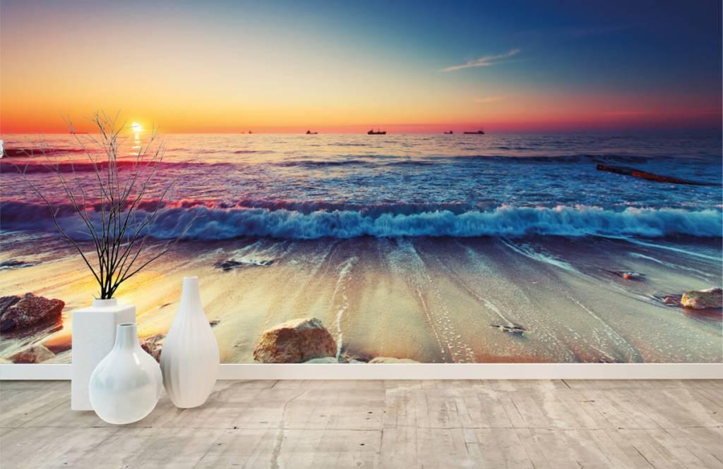 Stranden - Zonsondergang boven zee - Slaapkamer 8