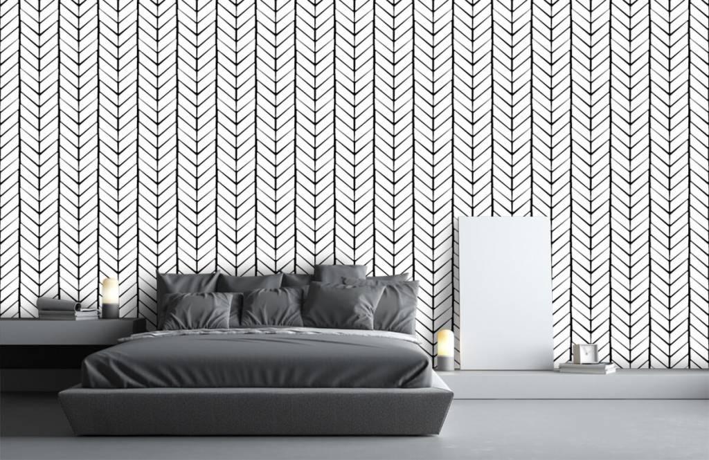 Patronen - Zwart-wit patroon - Slaapkamer 2