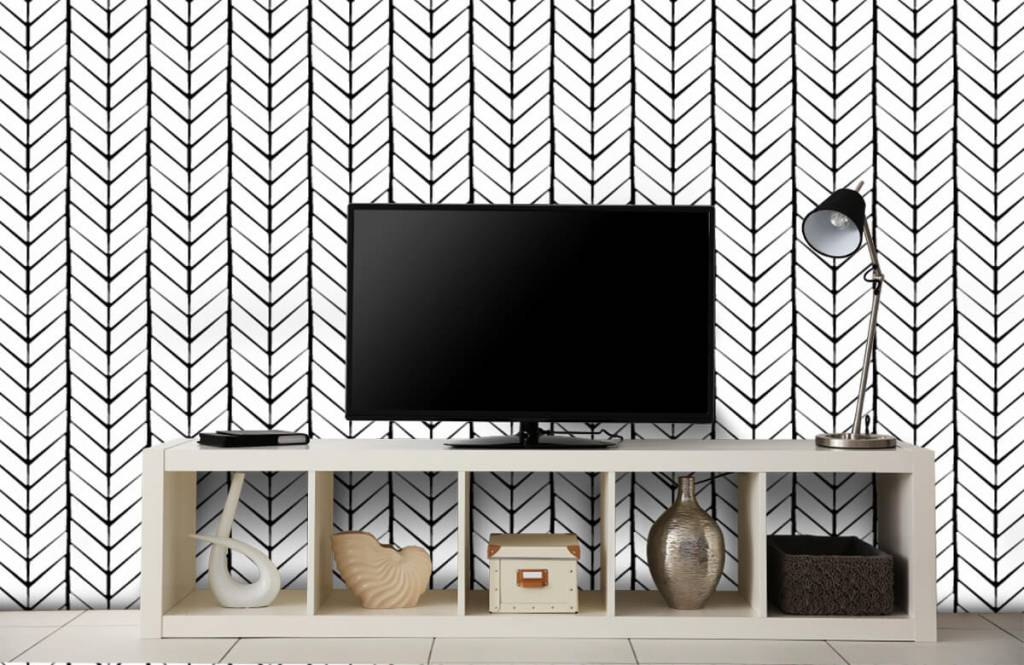 Patronen - Zwart-wit patroon - Slaapkamer 4