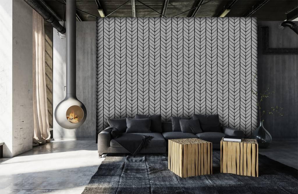 Patronen - Zwart-wit patroon - Slaapkamer 6