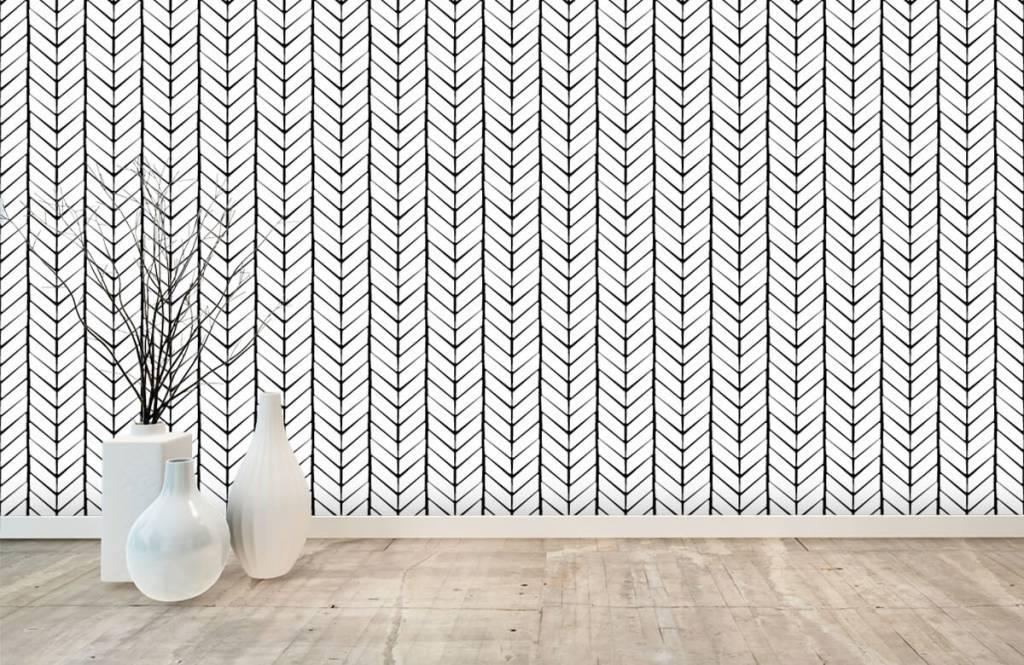 Patronen - Zwart-wit patroon - Slaapkamer 8