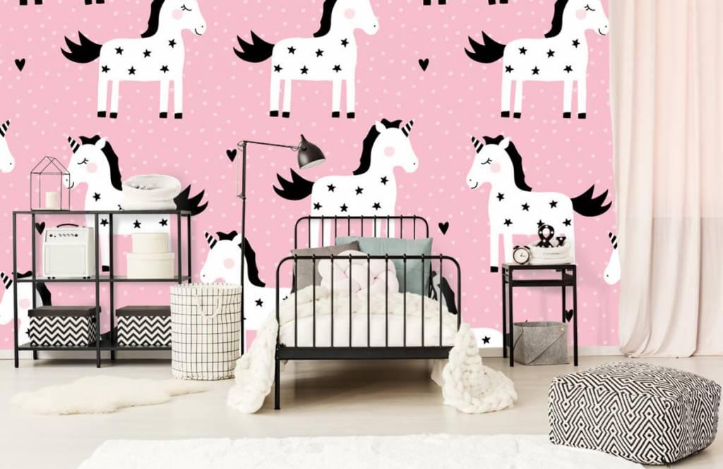 Paarden - Eenhoorn patroon - Kinderkamer 1