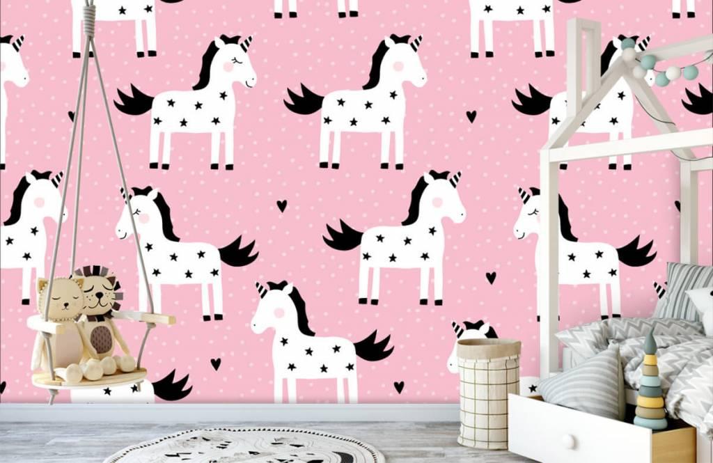 Paarden - Eenhoorn patroon - Kinderkamer 3