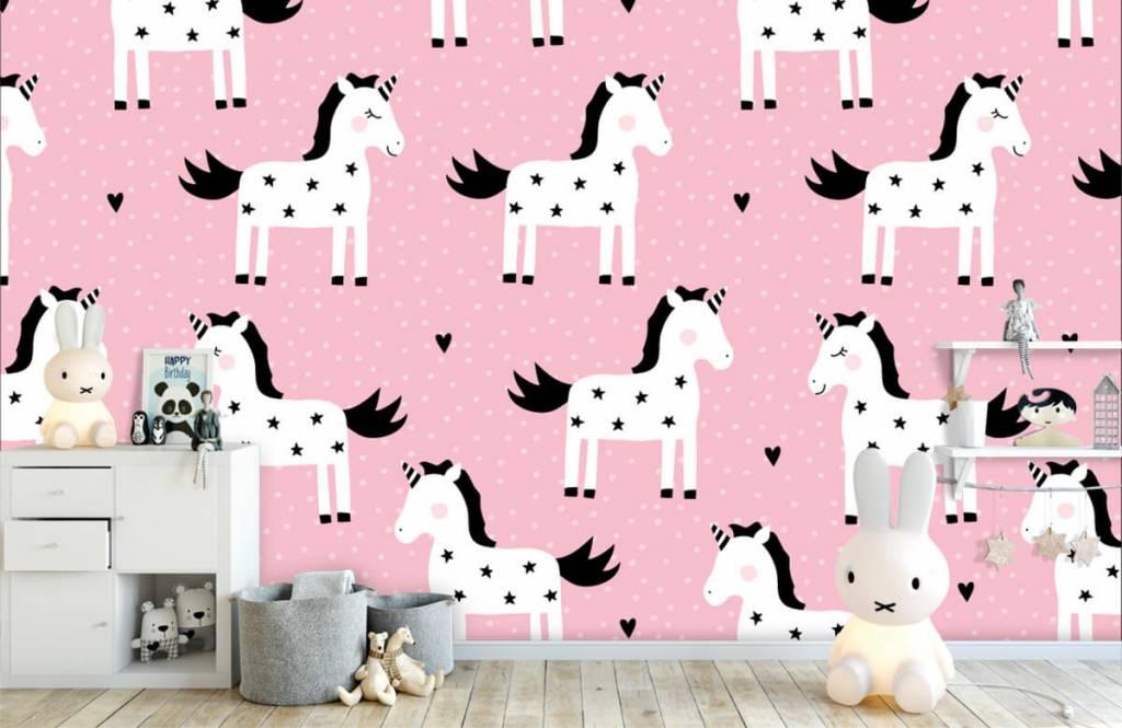 Paarden - Eenhoorn patroon - Kinderkamer 4