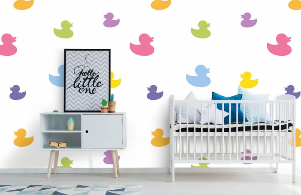 Overige - Gekleurde badeendjes - Babykamer 1