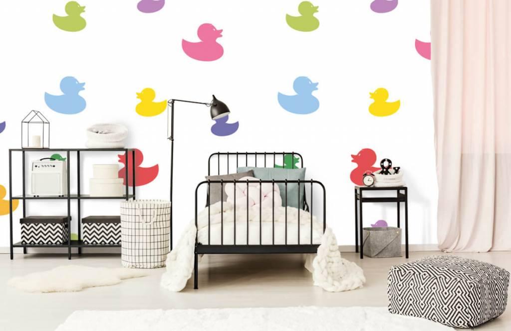 Overige - Gekleurde badeendjes - Babykamer 2