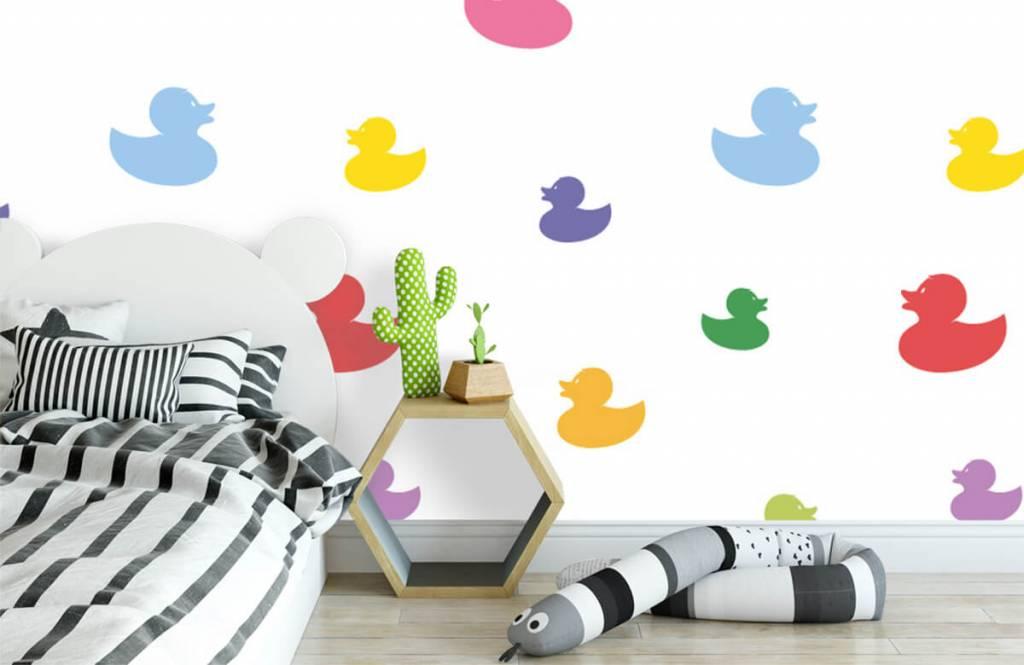 Overige - Gekleurde badeendjes - Babykamer 3