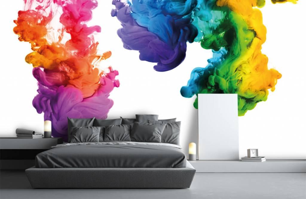 Abstract behang - Gekleurde rook - Hobbykamer 3