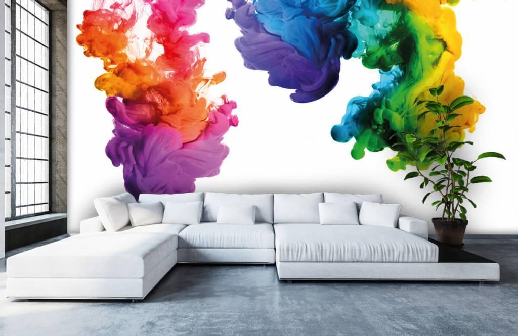 Abstract behang - Gekleurde rook - Hobbykamer 6
