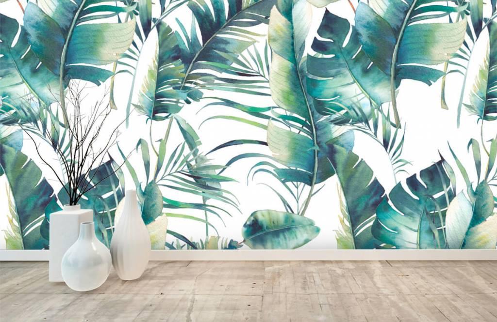 Jungle - Geschilderde palmbladeren - Woonkamer 1