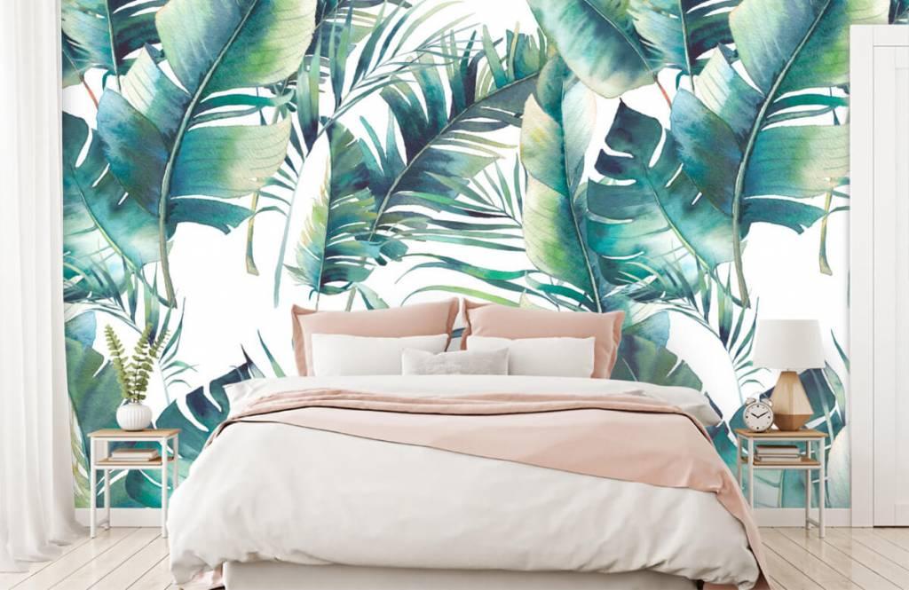 Jungle - Geschilderde palmbladeren - Woonkamer 2