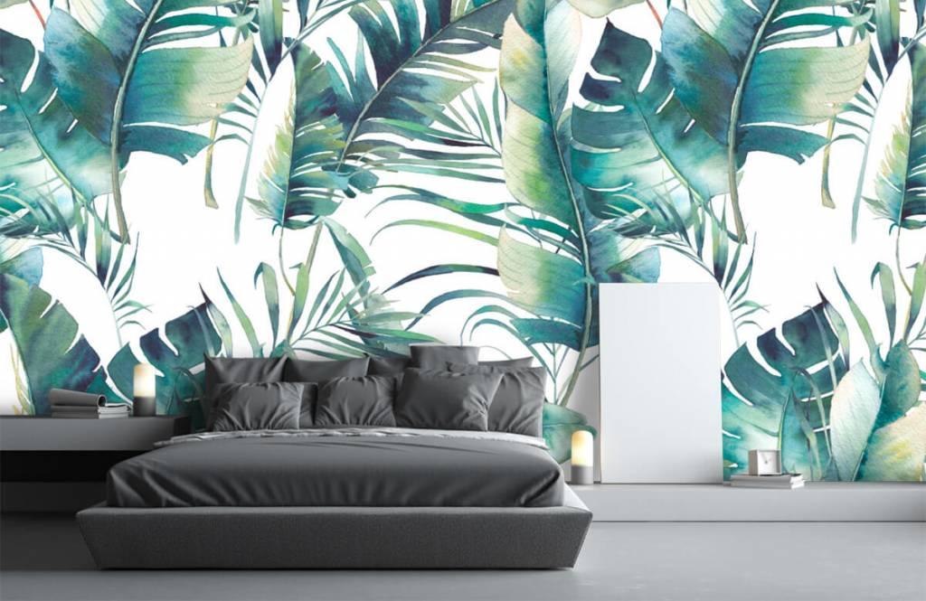 Jungle - Geschilderde palmbladeren - Woonkamer 3