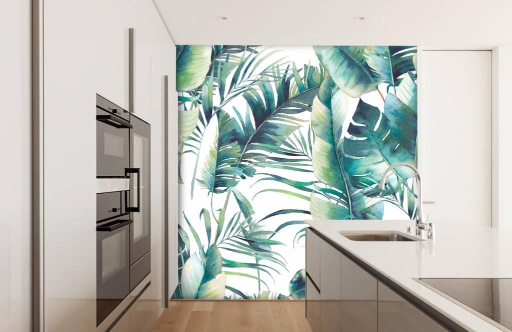 Jungle - Geschilderde palmbladeren - Woonkamer 4