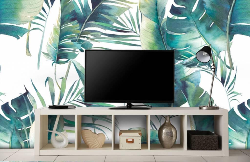 Jungle - Geschilderde palmbladeren - Woonkamer 5
