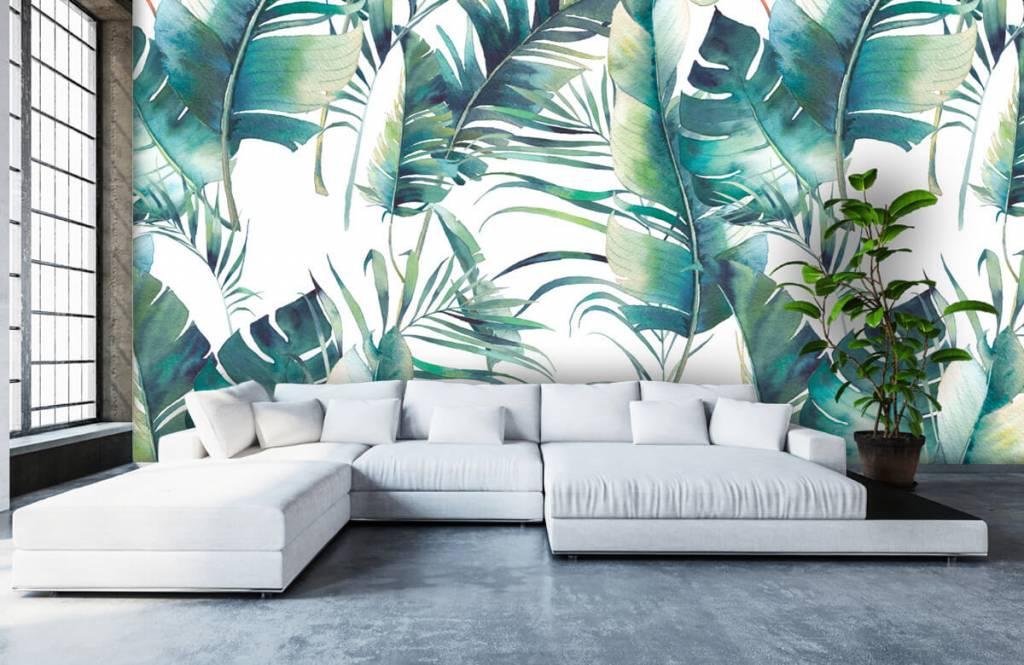 Jungle - Geschilderde palmbladeren - Woonkamer 6