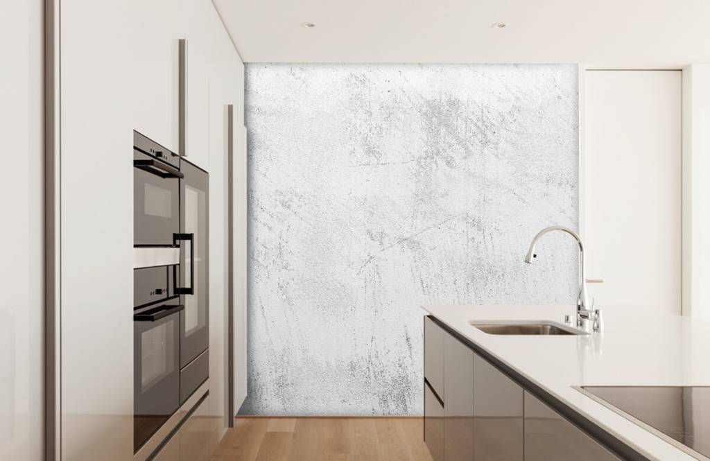 Betonlook behang - Geschuurd beton - Woonkamer 5