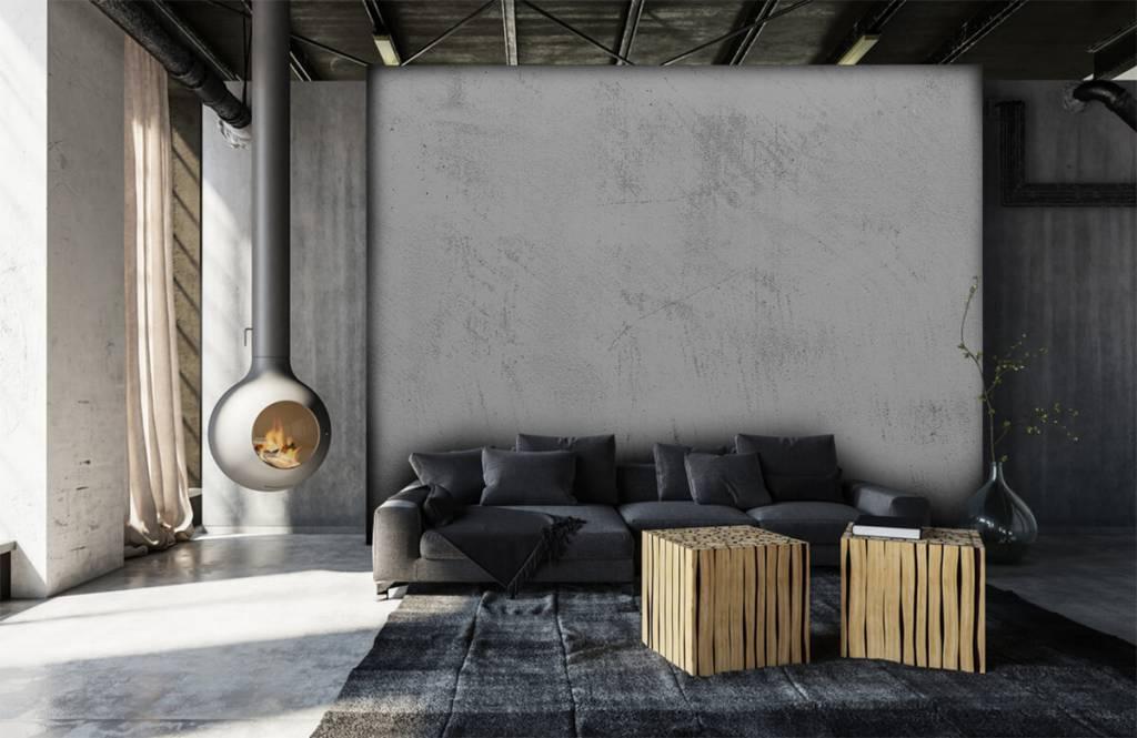 Betonlook behang - Geschuurd beton - Woonkamer 6