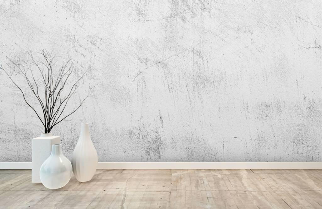 Betonlook behang - Geschuurd beton - Woonkamer 8