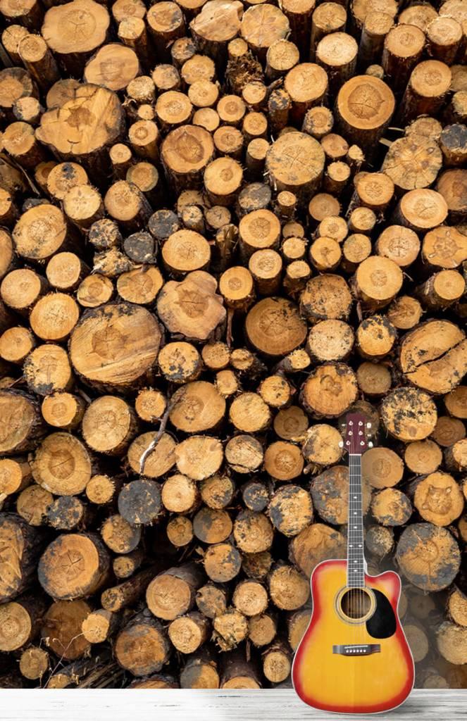 Bomen - Gestapeld hout - Woonkamer 1