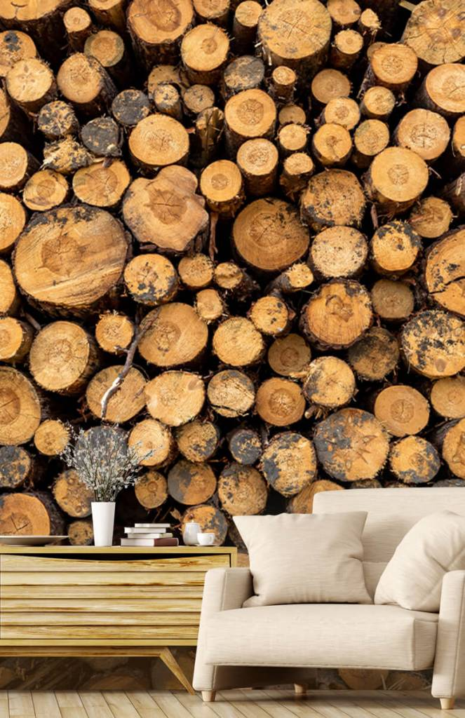 Bomen - Gestapeld hout - Woonkamer 2
