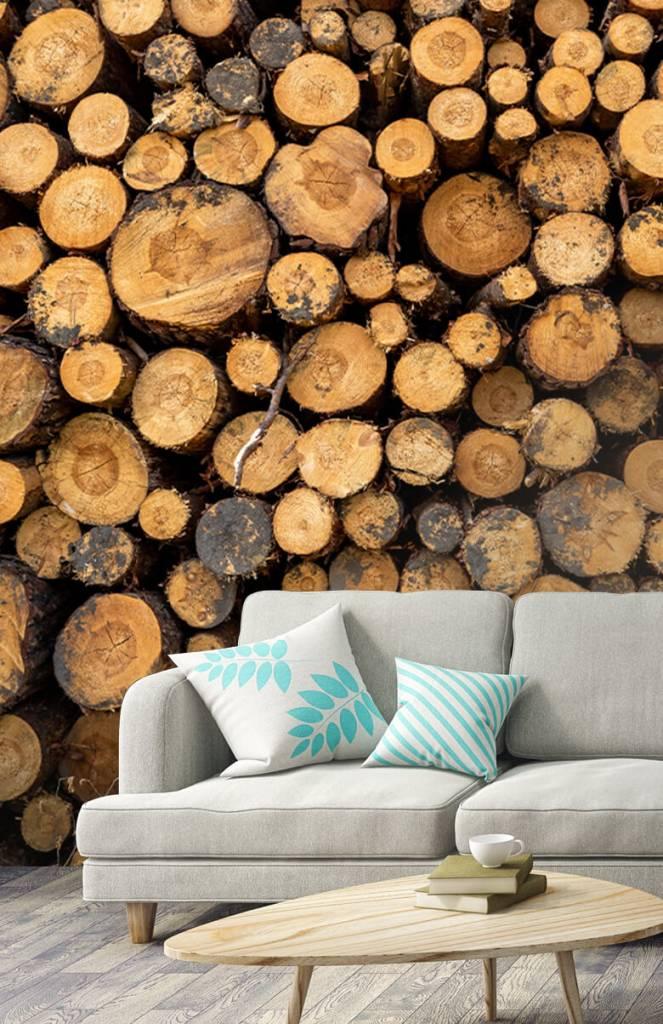 Bomen - Gestapeld hout - Woonkamer 3