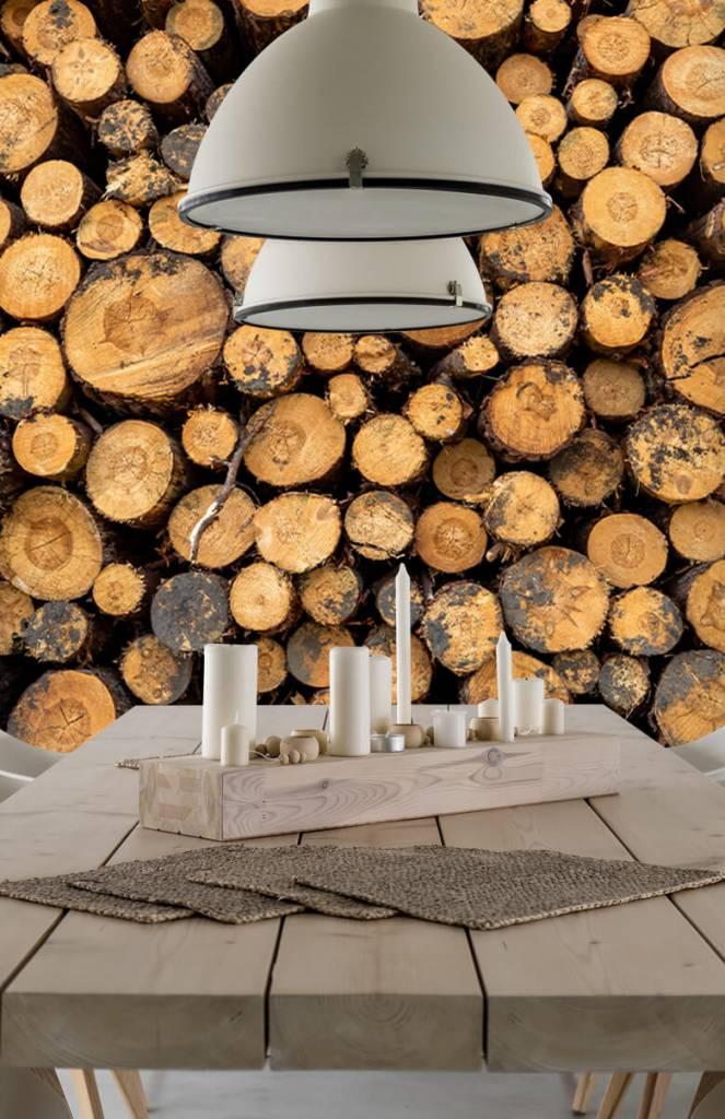 Bomen - Gestapeld hout - Woonkamer 4