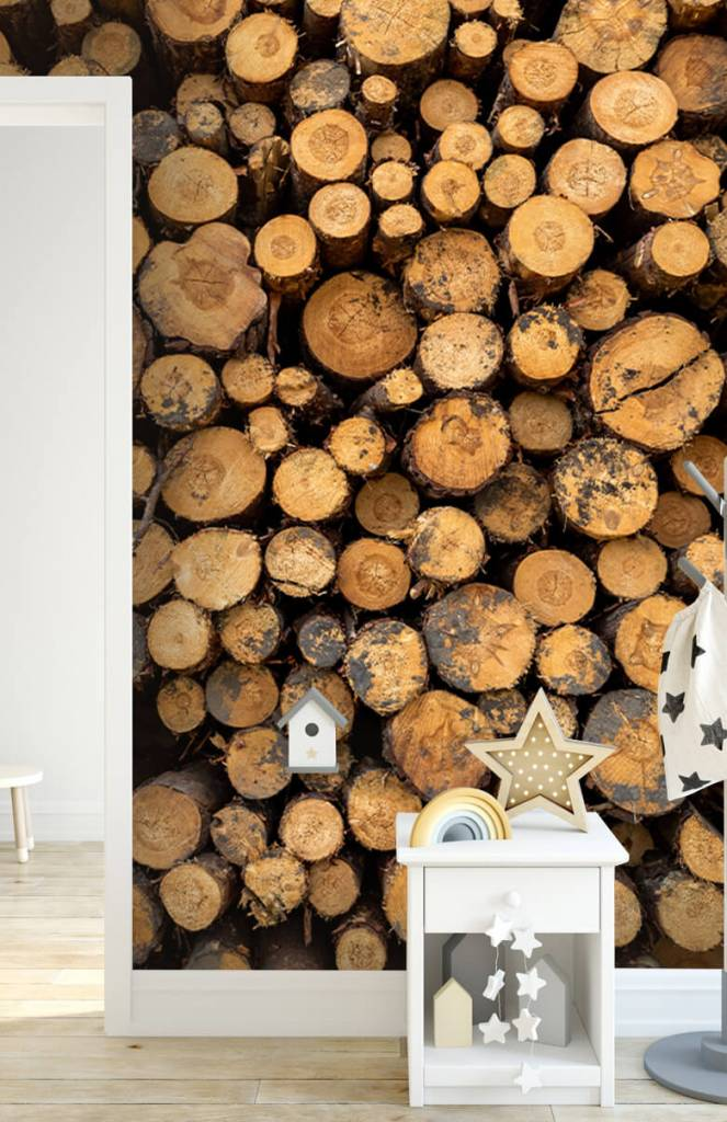 Bomen - Gestapeld hout - Woonkamer 5