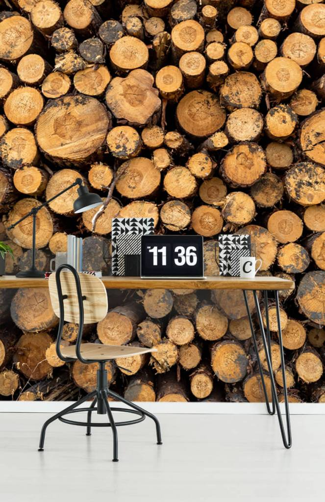 Bomen - Gestapeld hout - Woonkamer 6