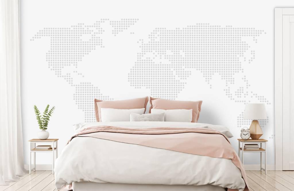 Wereldkaart behang - Gestippelde wereldkaart - Kantoor 2