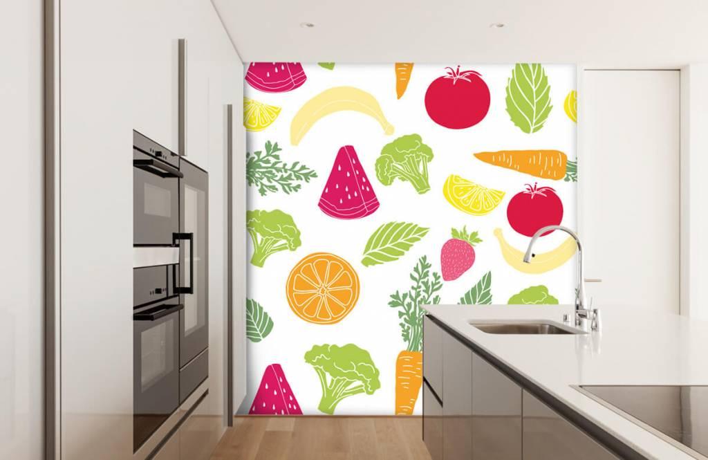 Overige - Getekend groente en fruit - Keuken 1