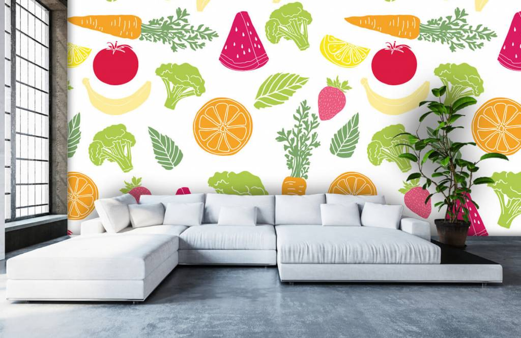 Overige - Getekend groente en fruit - Keuken 4
