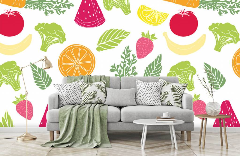Overige - Getekend groente en fruit - Keuken 5