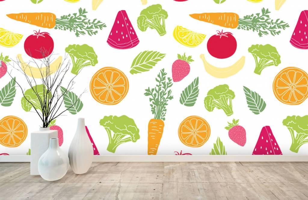 Overige - Getekend groente en fruit - Keuken 6