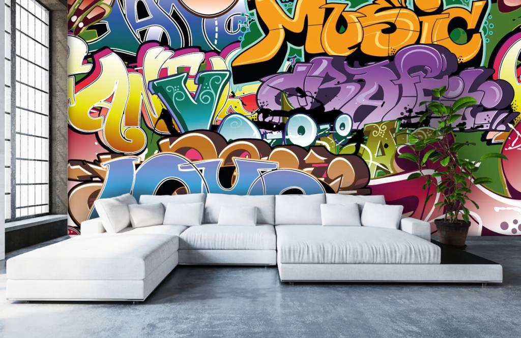Graffiti - Getekende graffiti - Tienerkamer 1