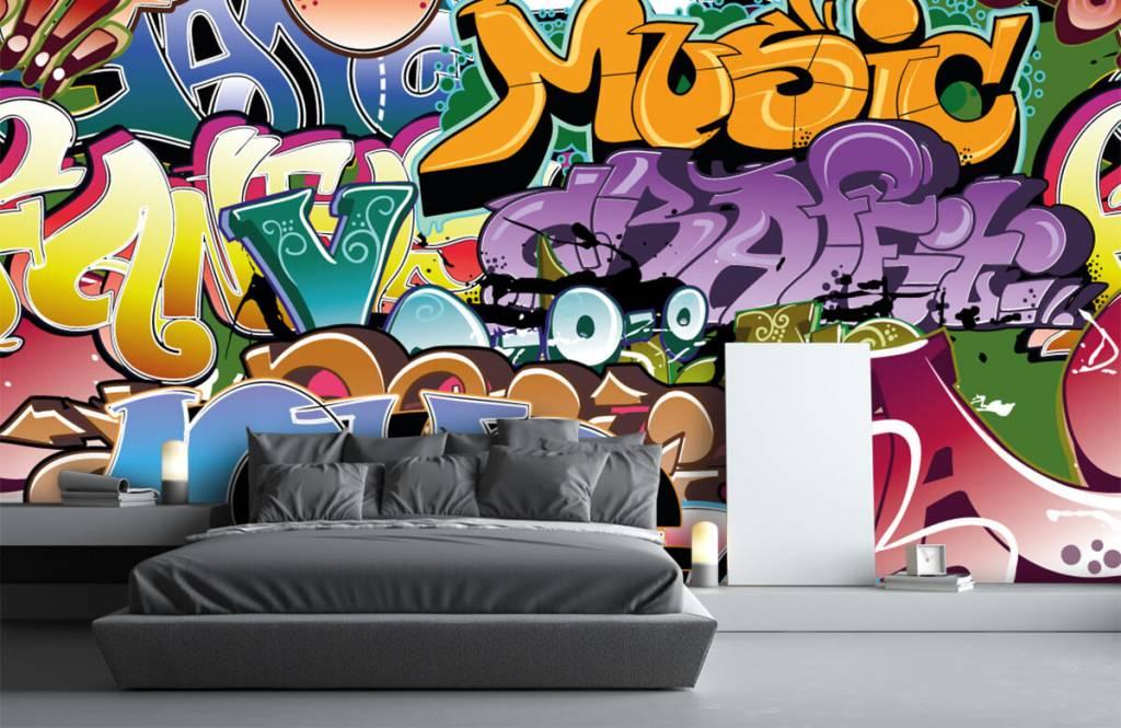 Graffiti - Getekende graffiti - Tienerkamer 3
