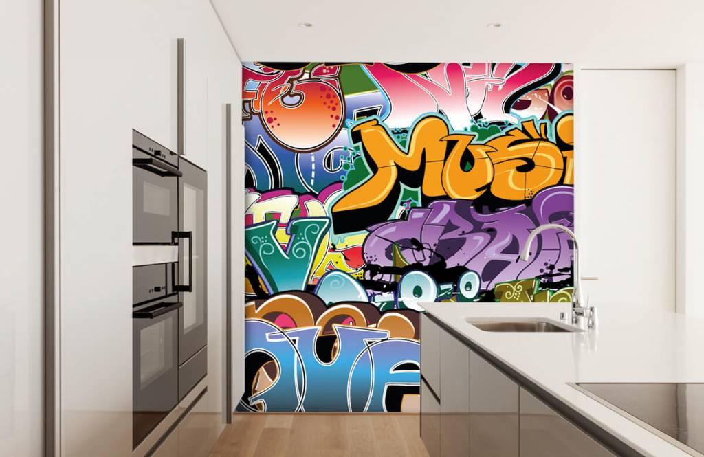 Graffiti - Getekende graffiti - Tienerkamer 4
