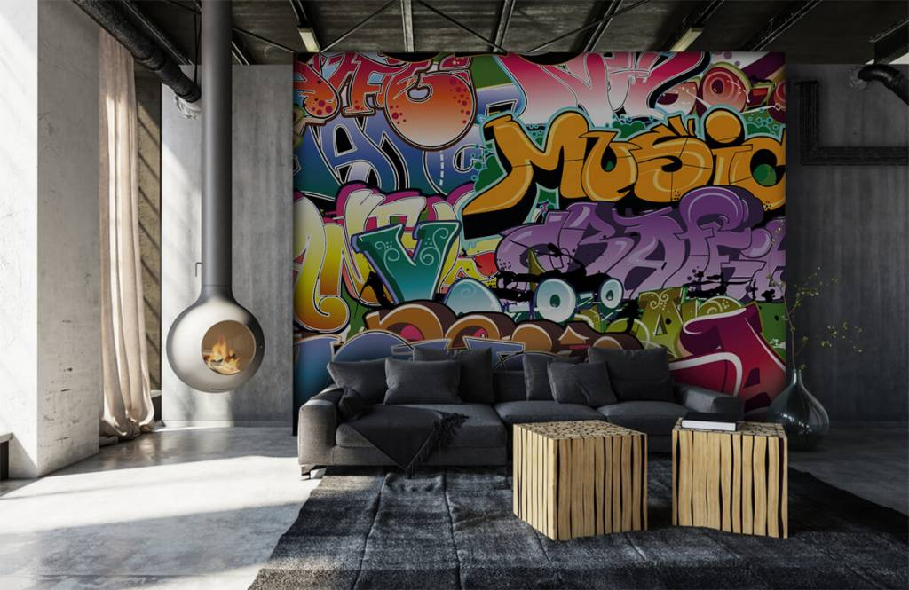 Graffiti - Getekende graffiti - Tienerkamer 6