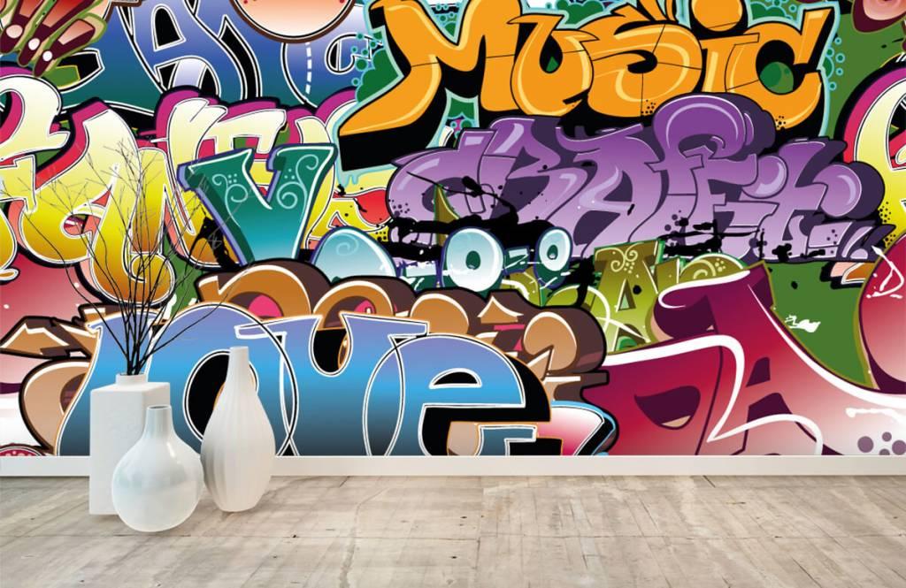 Graffiti - Getekende graffiti - Tienerkamer 8