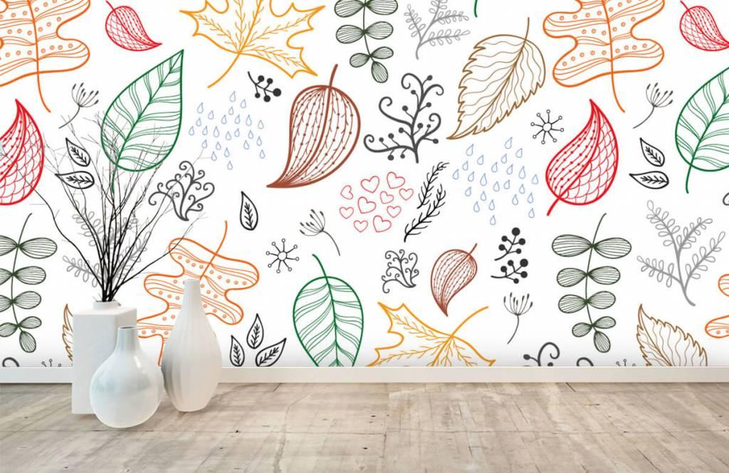 Bladeren - Getekende herfstbladeren - Hobbykamer 8