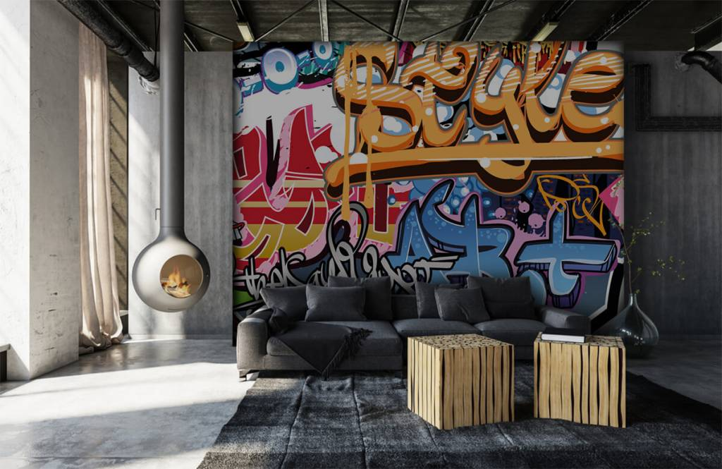Graffiti - Graffititekst - Tienerkamer 6