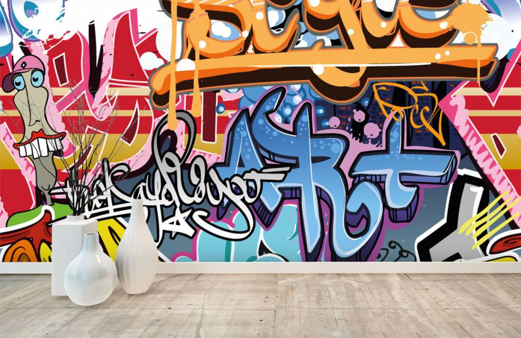 Graffiti - Graffititekst - Tienerkamer 8