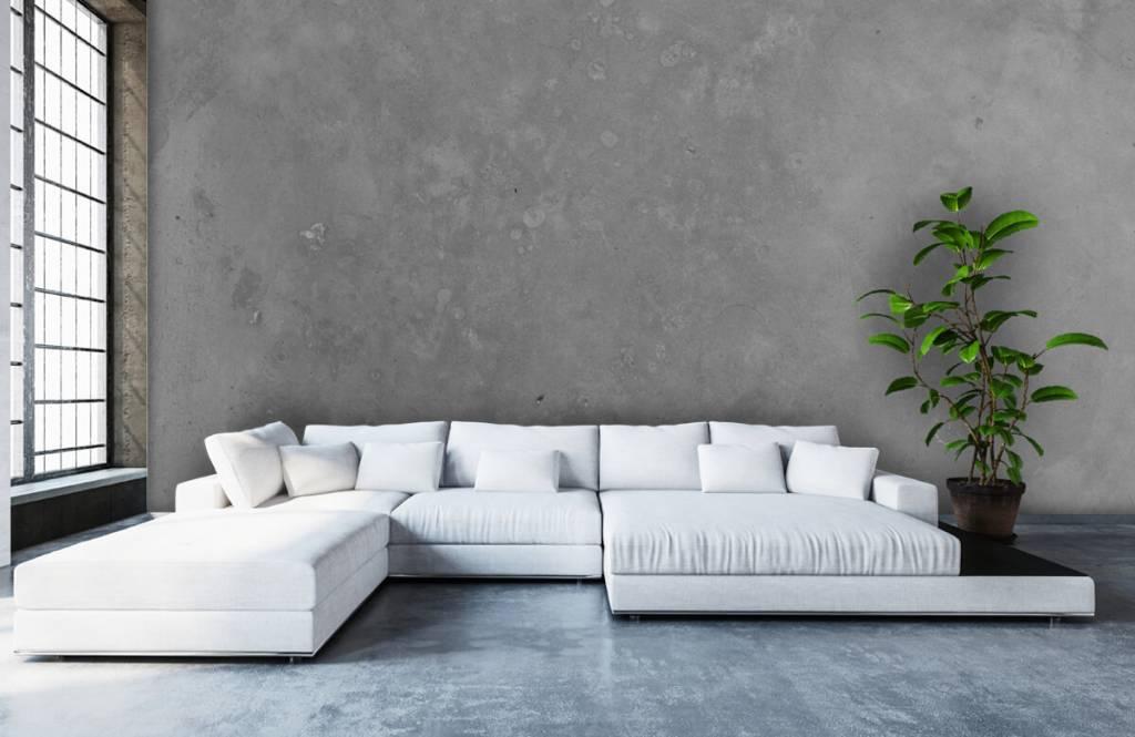 Betonlook behang - Grijs beton - Vergaderruimte 1