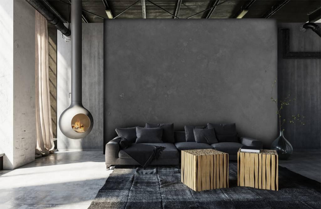 Betonlook behang - Grijs beton - Vergaderruimte 6