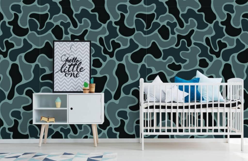 Overige - Groen grijze camouflage - Kinderkamer 2