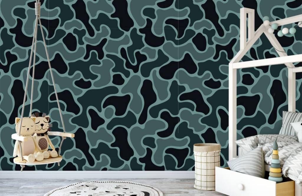 Overige - Groen grijze camouflage - Kinderkamer 5