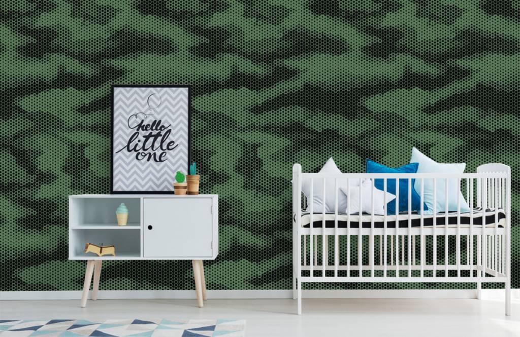 Overige - Groene camouflage print - Kinderkamer 1