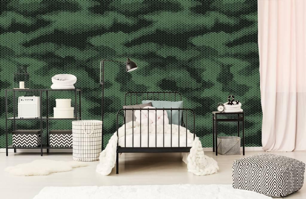 Overige - Groene camouflage print - Kinderkamer 2