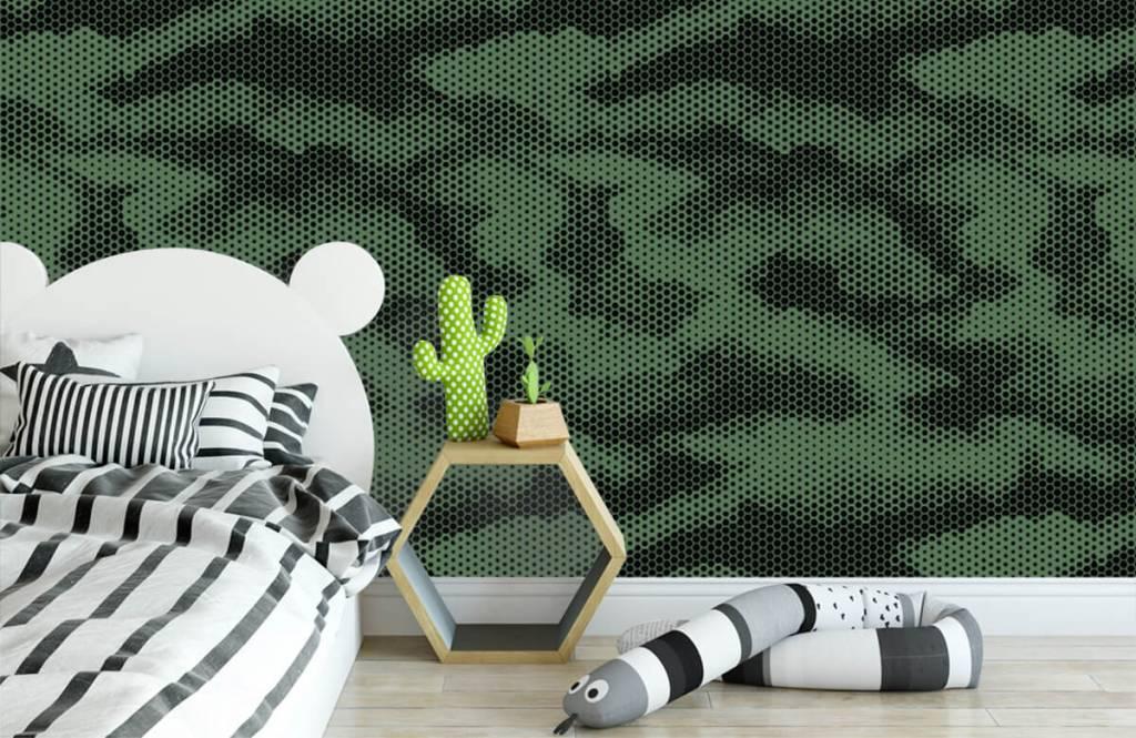 Overige - Groene camouflage print - Kinderkamer 3